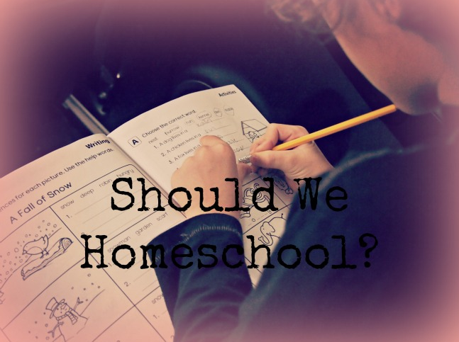 Should I Homeschool My Child?